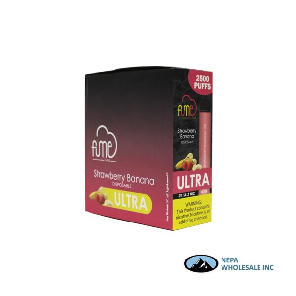 Fume Ultra 5% Strawberry Banana 10Pk Disposable