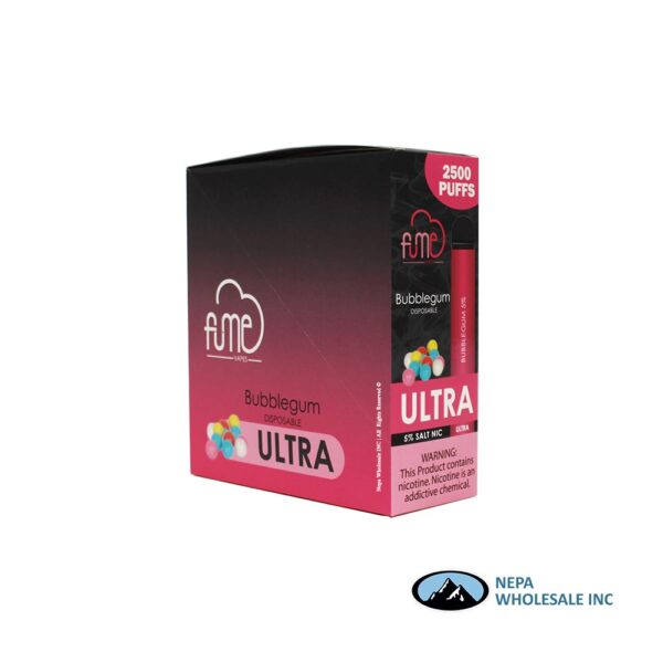 Fume Ultra 5% Bubble Gum 10Pk Disposable