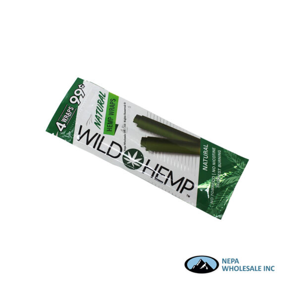 Wild Hemp 20Ct Natural Wraps 4 For $0.99