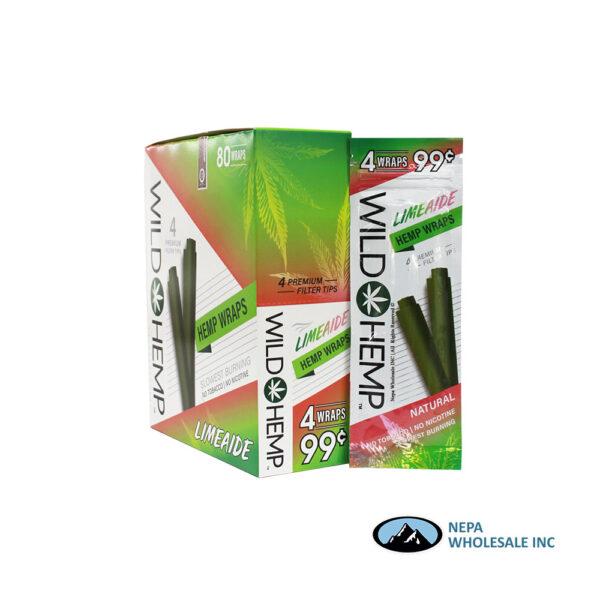 Wild Hemp 20Ct Limeaide Wraps 4 For $0.99
