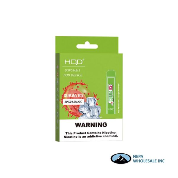 HQD Cuvie V1 Disposable 5% Guava Ice 3x10PK