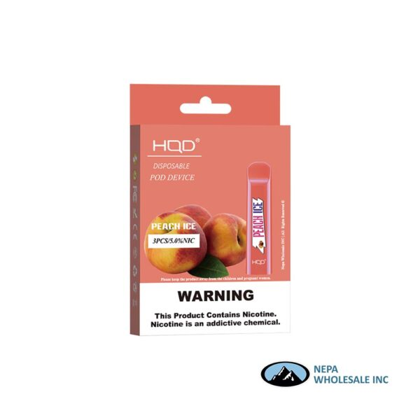 HQD Cuvie V1 Disposable 5% Peach 3x10PK