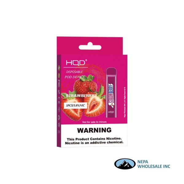 HQD Cuvie V1 Disposable 5% Strawberry 3x10PK
