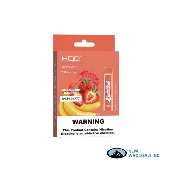 HQD Cuvie V1 Disposable 5% Strawberry Banana 3x10PK