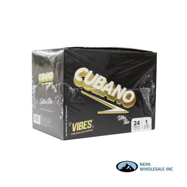 Vibes Ultra Thin Cubano Black Cones 24 Packs Per Box