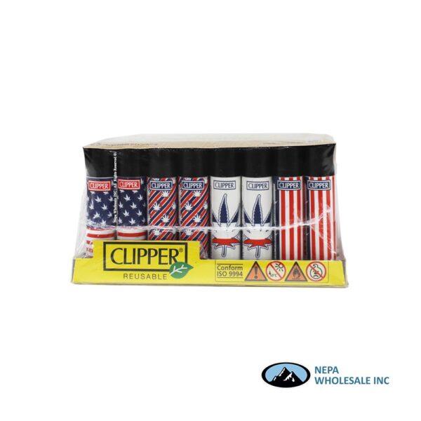Clipper Lighter National Leaf 2 48pcs Display