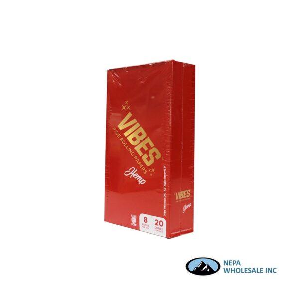 Vibes Hemp King Size Cone 20 Cones Per Box