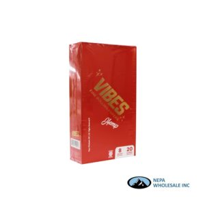 Vibes Hemp King Size Cone 20 Cones Per Box