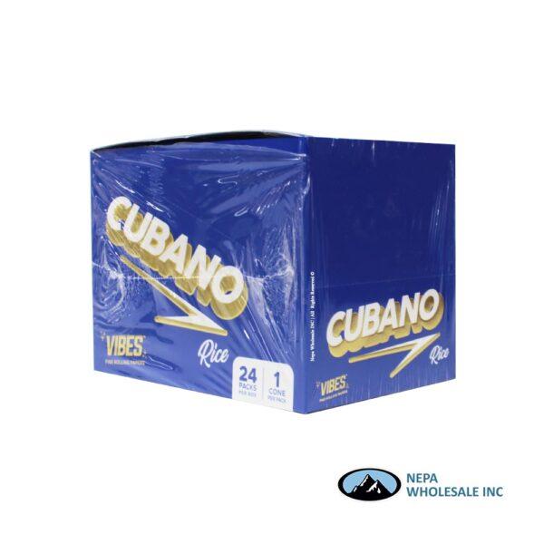 Vibes Rice Cubano Black Cones 24 Packs Per Box