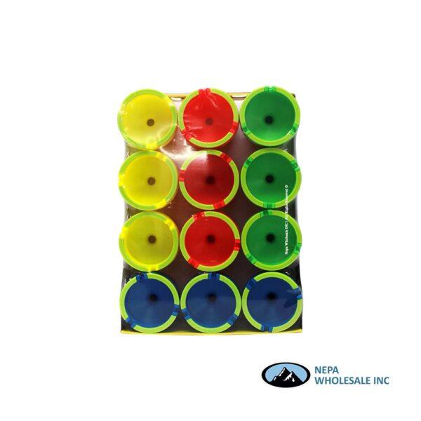 Plastic Bucket Car Ashtray Luminous 12CT