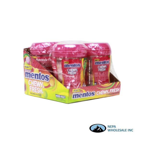 Mentos 4-50 Piece Mixed Fruit Chewy & Fresh