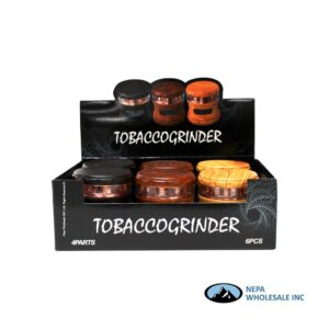 Grinder (Gr216-63W) 4 Parts Wood And Glass 63mm