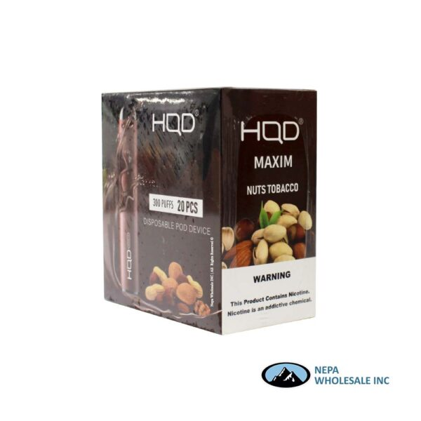 HQD Maxim Disposable 5% Nuts Tobacco 1X20PK