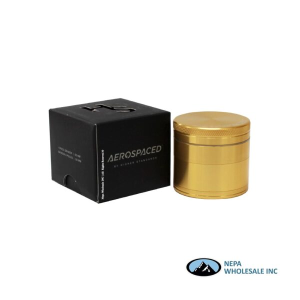 Aerospace 4 Parts 2 Inch Grinder Gold 1Ct