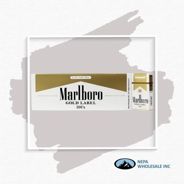 Marlboro 100's Gold Label Box