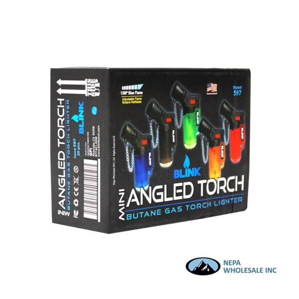 Blink Mini Angle Frosted Torch Lighter 20CT