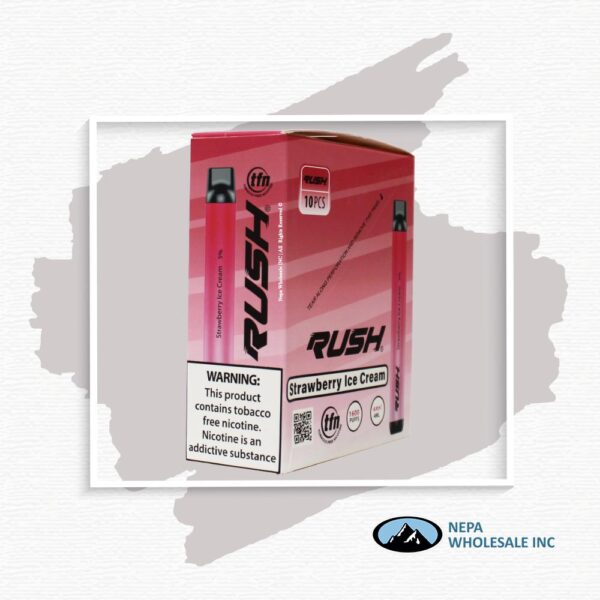 Rush 5% Strawberry Ice Cream Ice 10PK Disposable