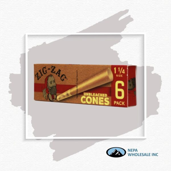 Zig Zag Unbleached Cone 1 1/4 24 Packs