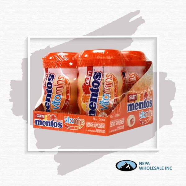 Mentos 4-45Pcs Citrus With Vitamins