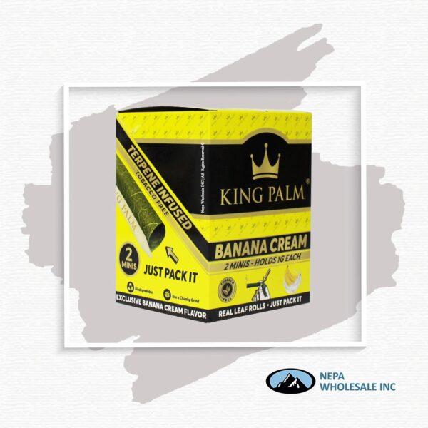King Palm Flavors 2 Mini Rolls Banana Cream 20CT