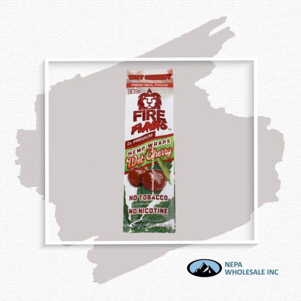 Fire Flava's Wet Cherry 25CT Hemp Wrap