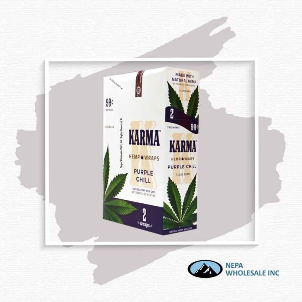 Karma 2 For $0.99 Purple Chill Hemp Wrap 25 Pack