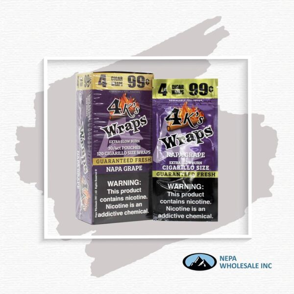4 K's Wraps 30-4CT Napa Grape