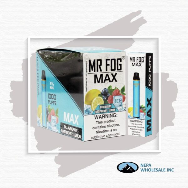 Mr Fog Max 5% Blueberry Raspberry Lemon 10PK
