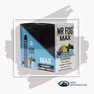 Mr Fog Max 5% Blackberry Blueberry Lemon Ice 10PK