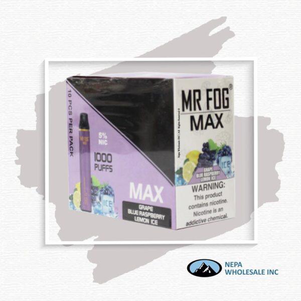 Mr Fog Max 5% Grape Blue Raspberry Lemon Ice 10PK