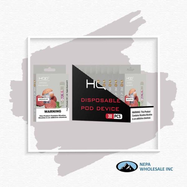 HQD V1 Disposable 5% Lychee Ice 3x10PK