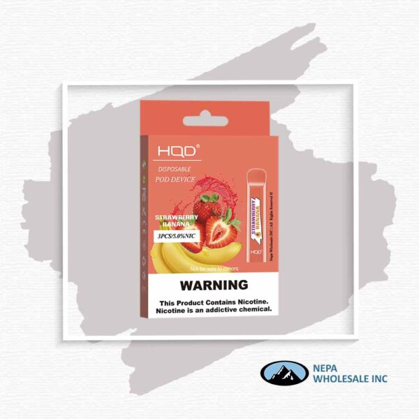 HQD V1 Disposable 5% Strawberry Banana 3x10PK