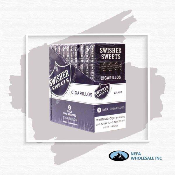 Swisher Sweet 10-5 Packs Grape Cigarillos