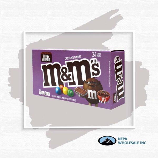 M&M'S 24-1.41Oz Fudge Brownie