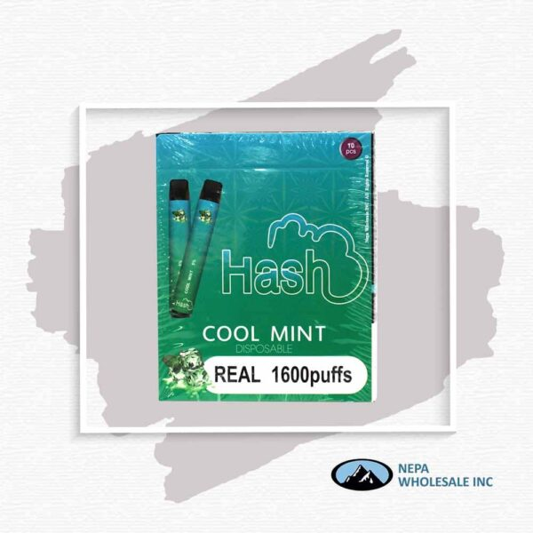 Hash Real 5% Cool Mint 1X10Pk Disposable