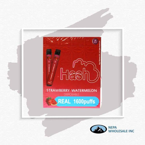 Hash Real 5% Strawberry Watermelon 1X10Pk Disposable