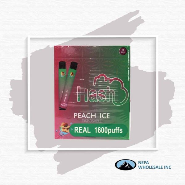 Hash Real 5% Peach Ice 1X10Pk Disposable