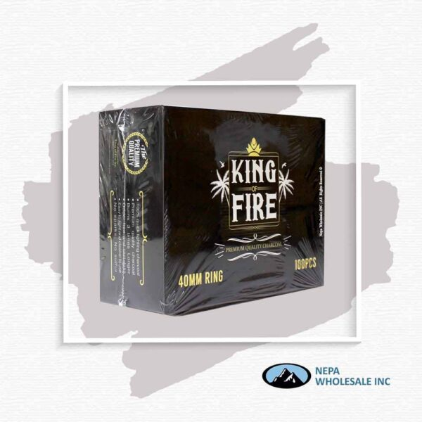 King Of Fire Charcoal 40Mm 10Pk