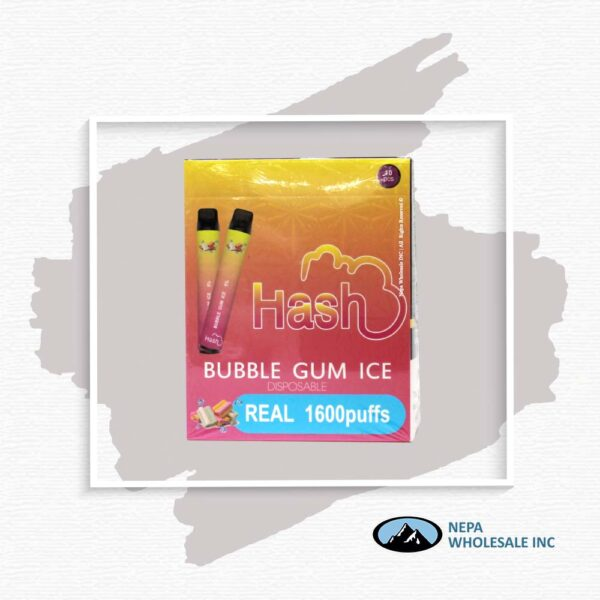 Hash Real 5% Bubble Gum Ice 1X10Pk Disposable