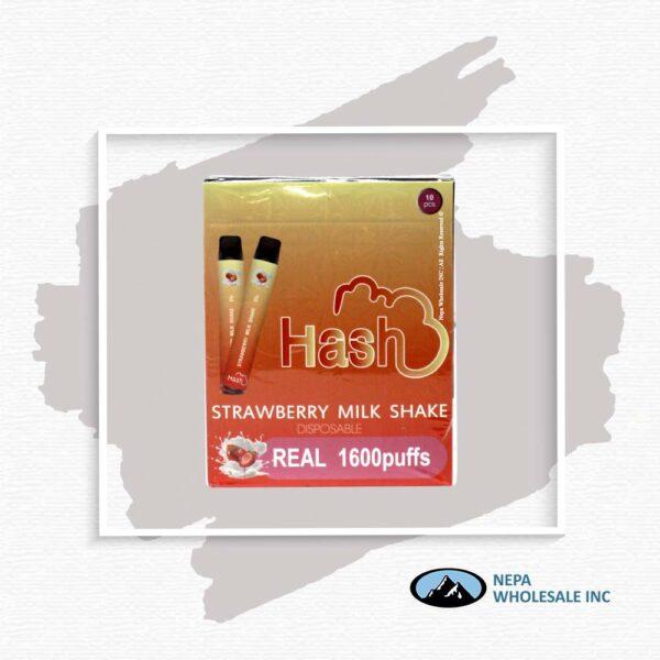 Hash Real 5% Strawberry Milk Shake 1X10Pk Disposable