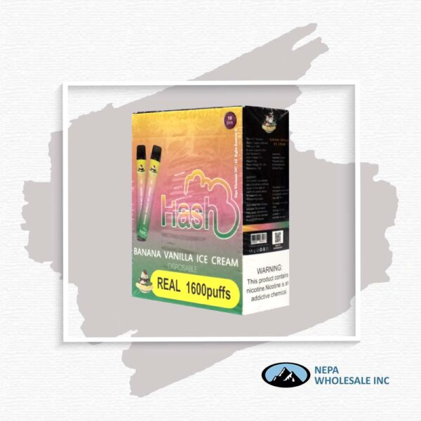 Hash Real 5% Banana Vanilla Ice Cream 1X10Pk Disposable