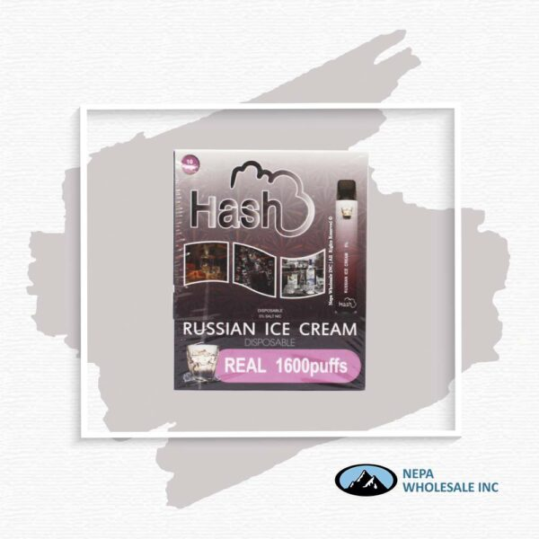 Hash Real 5% Russian Ice Cream 1X10Pk Disposable